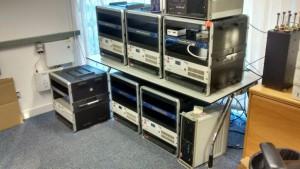 Digital Radio kits for UK trial, assembled by Rashid at OFCOM